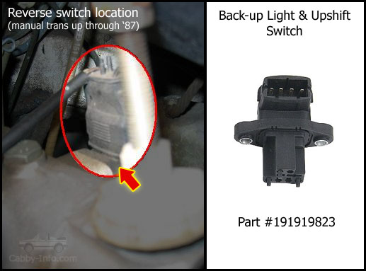 electrical system on top of transmission bell housing reverse light switch manual transmission