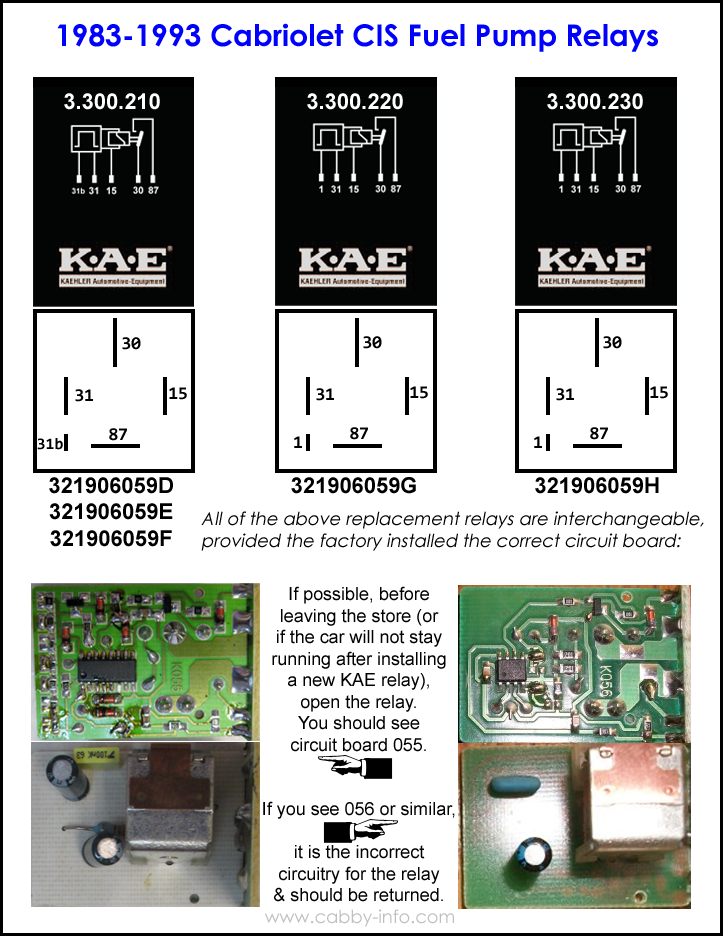 CISFuelPumpRelays electrical system 12 Volt Relay Wiring Diagrams at gsmx.co